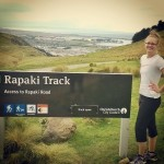 LIsa marie gray on her first walk up Rapaki
