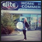 Lisa and her ball from elite