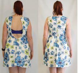 Melanie crop pretty dress rear pic