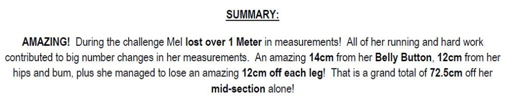 Mel's results summary from kate
