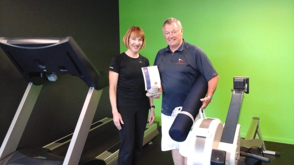Barry and his personal trainer Sue Twomey
